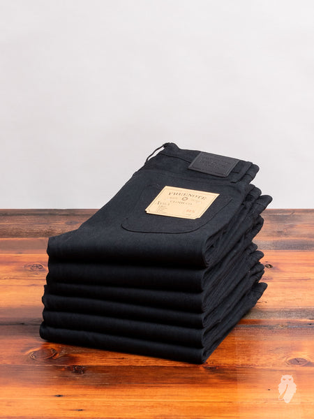 """Avila"" 14.25oz Black Selvedge Denim - Slim Tapered Fit"