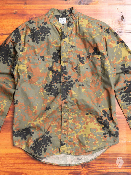 Stand Collar Shirt in German Camouflage