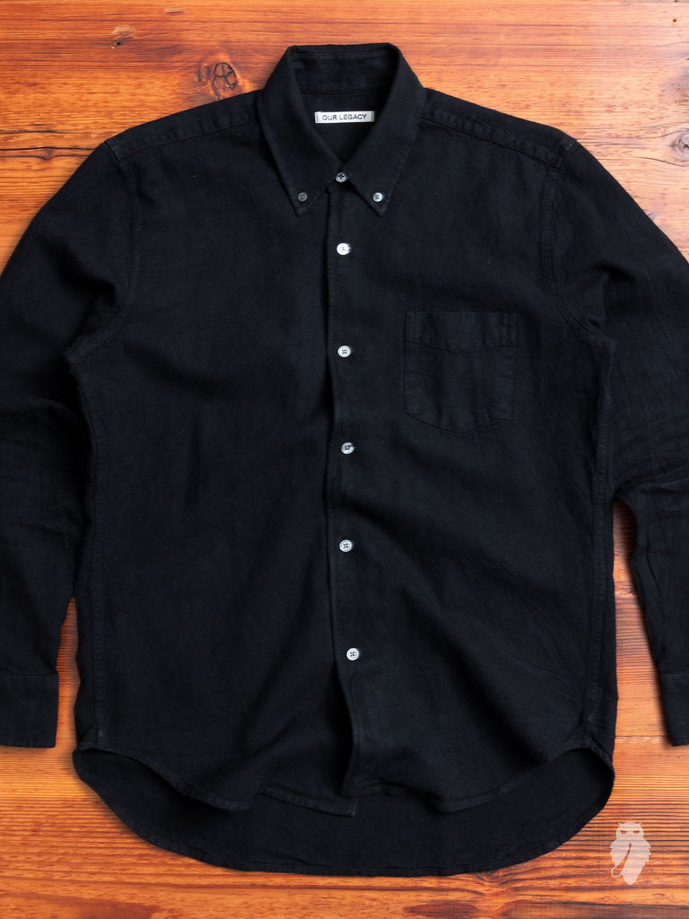 1950s Button Down Shirt in Black