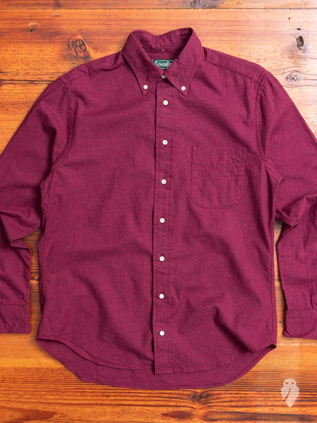 Classic Flannel in Burgundy