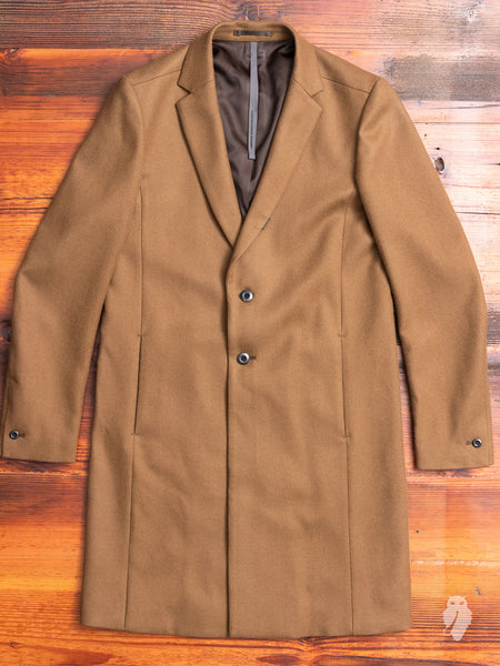 Melton Wool Chesterfield Coat in Camel