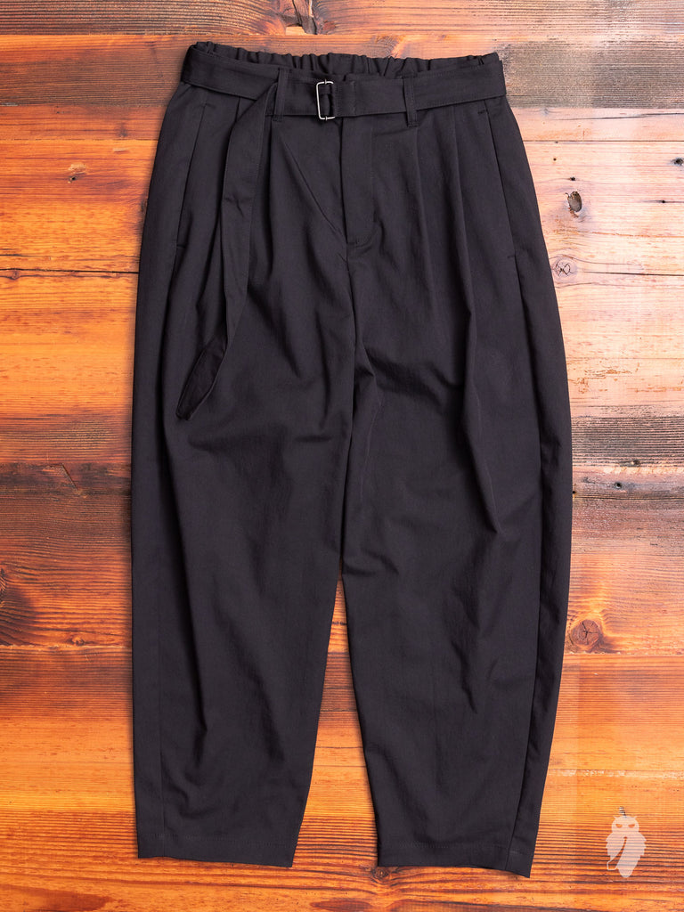 Pleated Relaxed Trouser in Black
