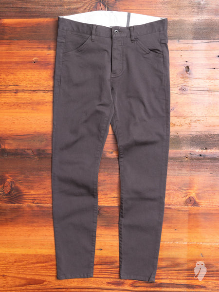 Power Stretch Twill Slim Chino in Charcoal