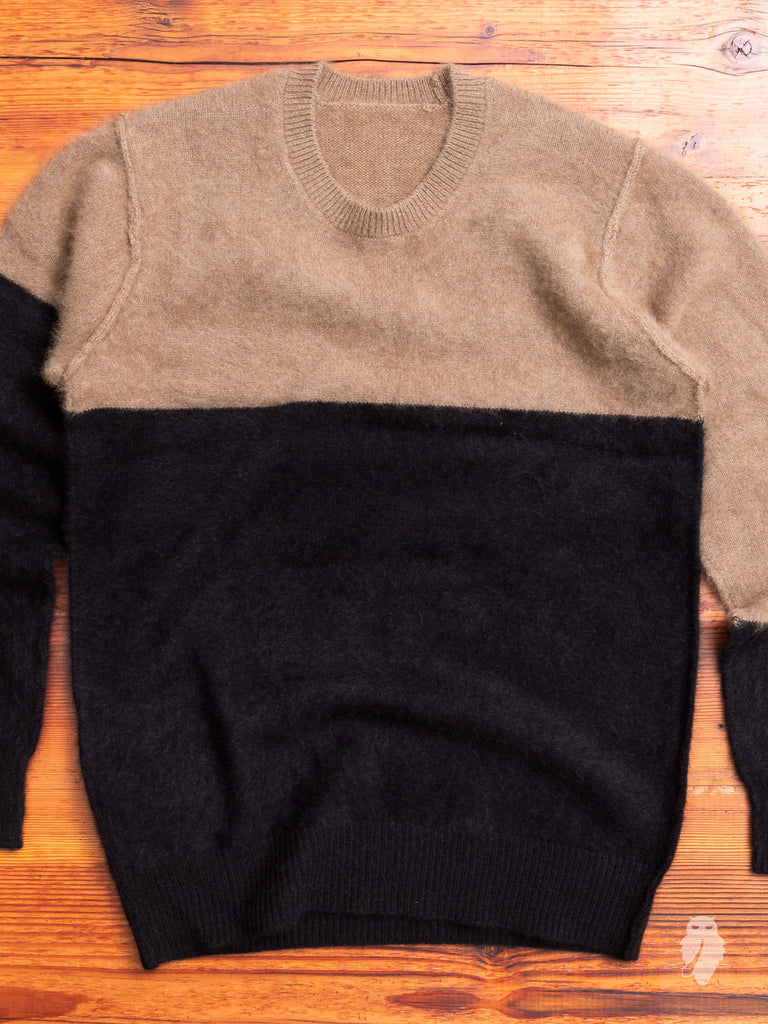 Raccoon Fur Sweater in Camel
