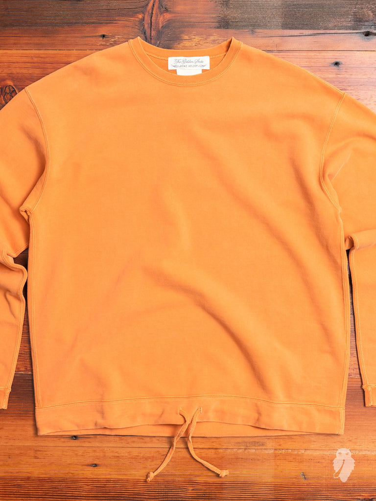 Outdoor Crewneck Sweater in Washed Orange