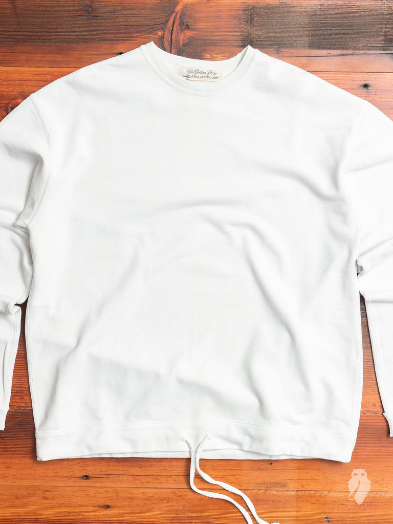 Outdoor Crewneck Sweater in Washed Off-White