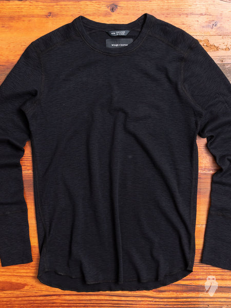 1x1 Long Sleeve T-Shirt in Black
