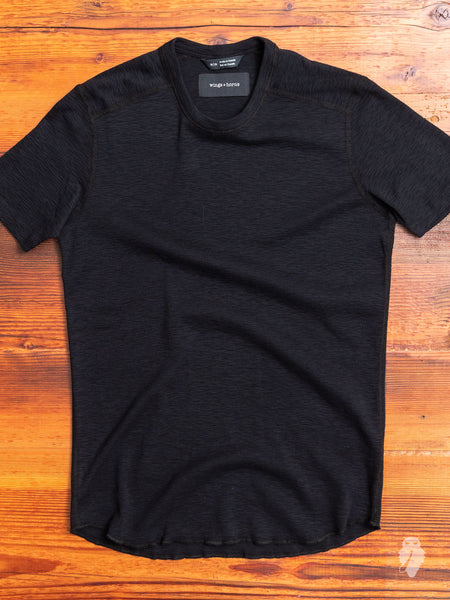 1x1 Slub T-Shirt in Black