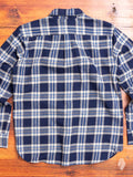 """Traveler Shirt"" in Navy Nep Plaid"
