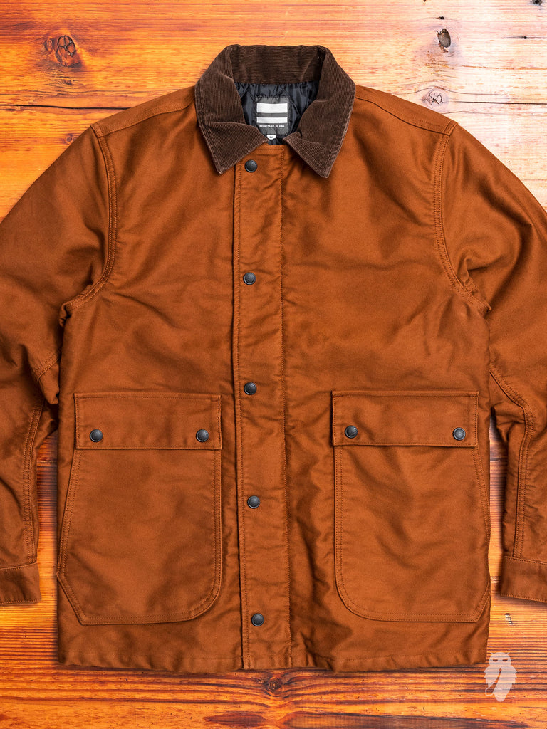 Moleskin Work Jacket in Rust