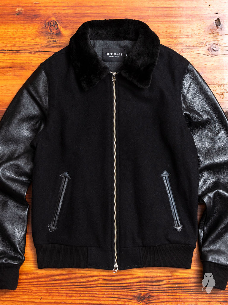 Aviator Jacket in Double Black