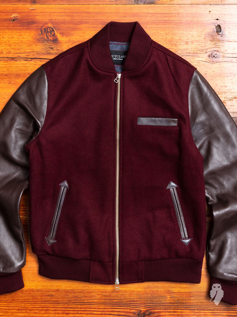 Bomber Jacket in Maroon