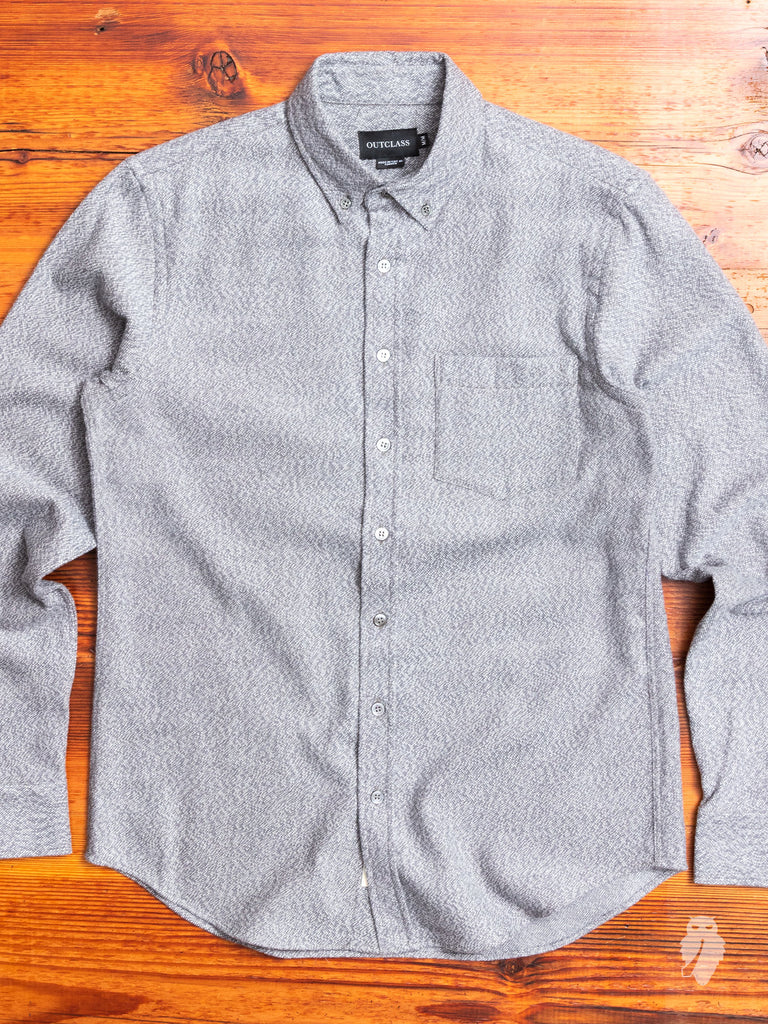 Broken Twill Brushed Flannel in Heather Grey
