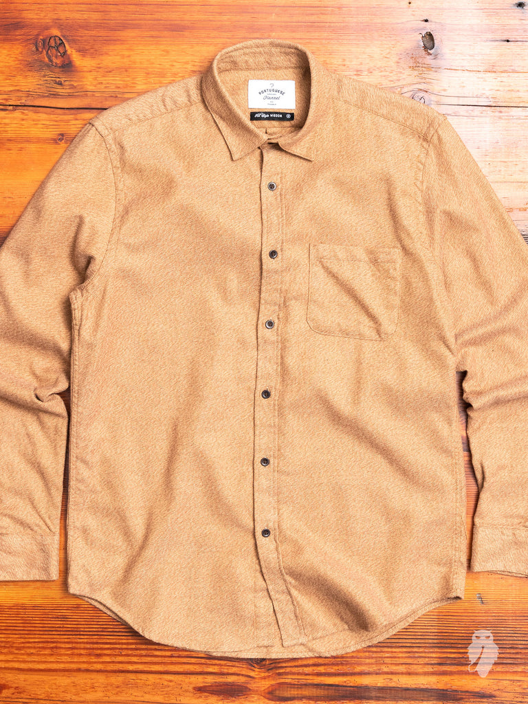 Canela Button-Up Shirt in Wheat