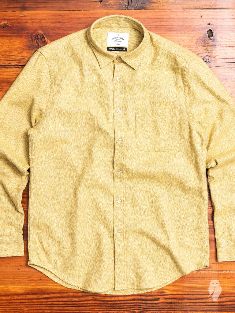 Dijon Button-Up Shirt in Yellow