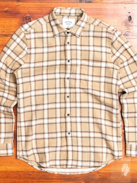 West Button-Up Shirt in Sand
