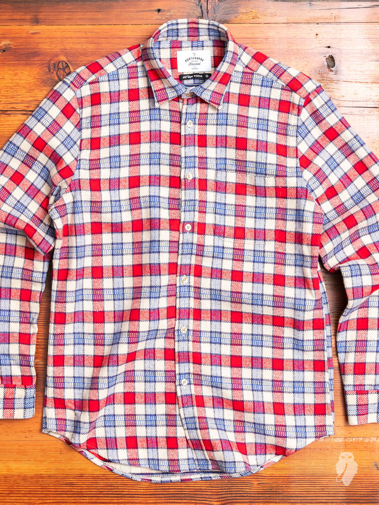 NYC Button-Up Shirt in Red