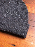 """Out of the Blue"" Wool Beanie in Charcoal"