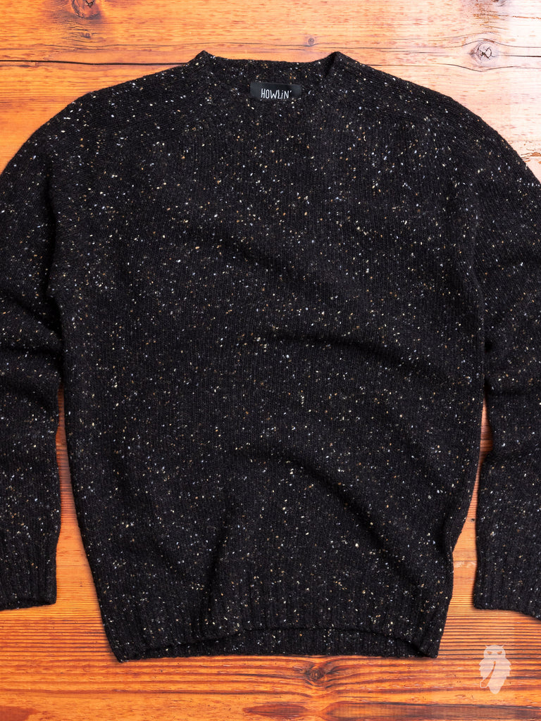 """Terry"" Wool Sweater in Blackout"