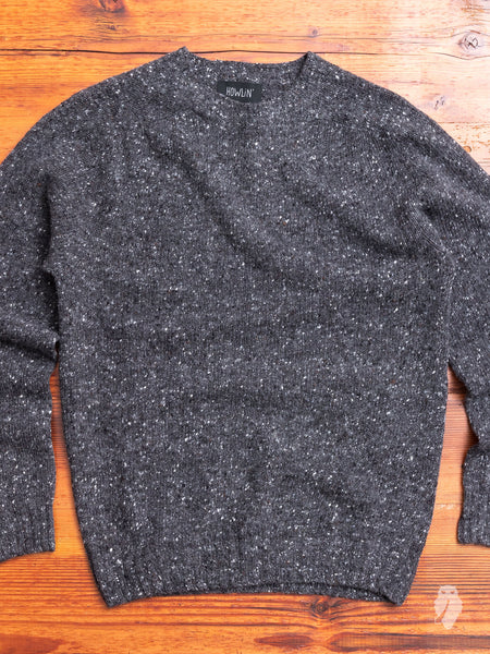 """Terry"" Wool Sweater in Charcoal"