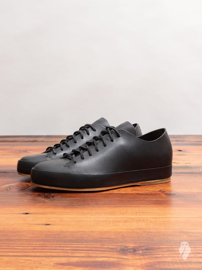 Hand Sewn Low-Top Sneaker in Black