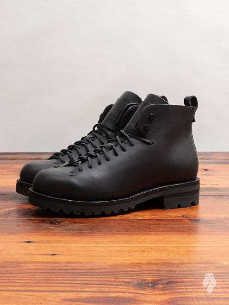 Wool Hiking Boot in Black