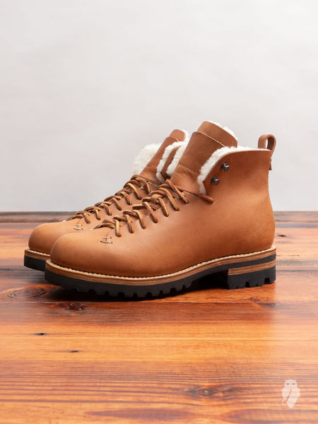 Wool Hiking Boot in Natural