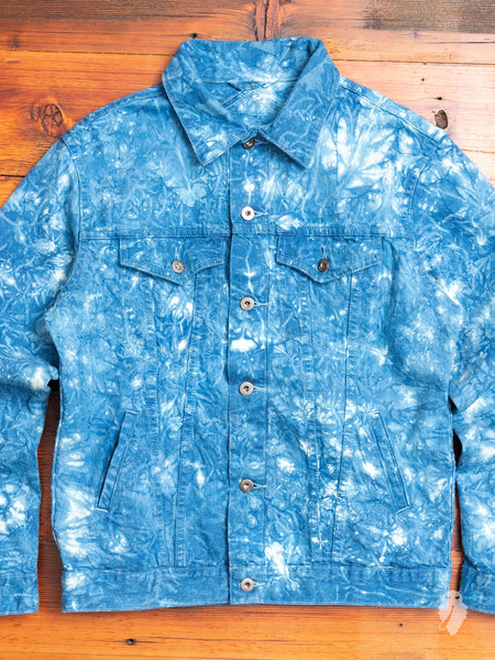 """10th Anniversary"" Type-3 Denim Jacket in Indigo Tie-Dye"
