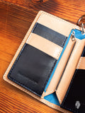 """10th Anniversary"" Gradient Dyed Long Wallet in Indigo Cowhide"
