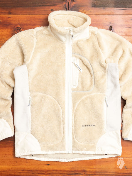 High Loft Fleece Jacket in Off White
