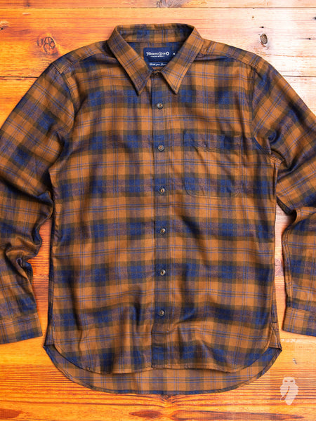 Bodie Flannel Shirt in Burnt Olive