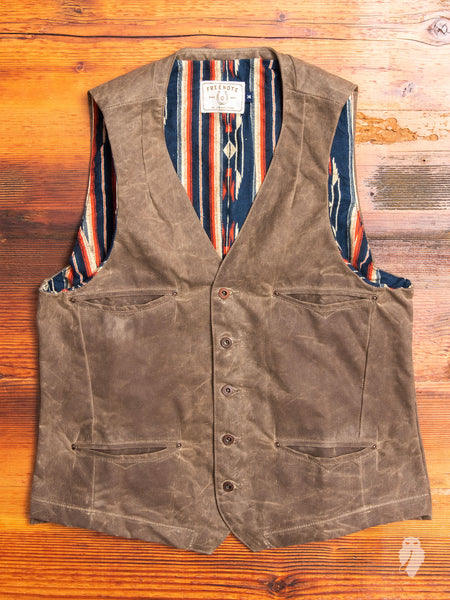 Calico Vest in Waxed Taupe
