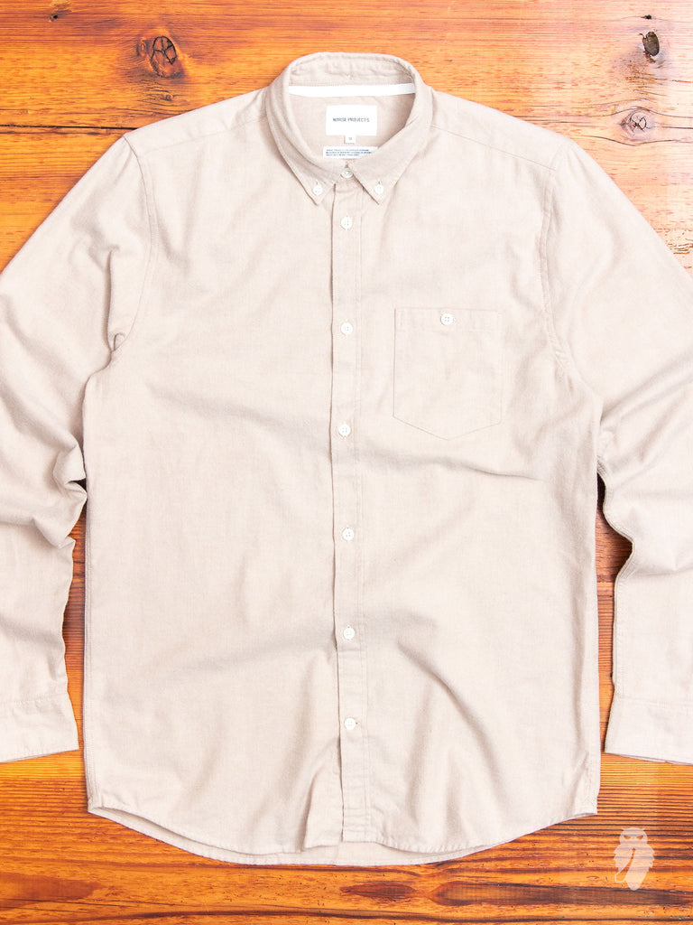Anton Flannel Shirt in Utility Khaki