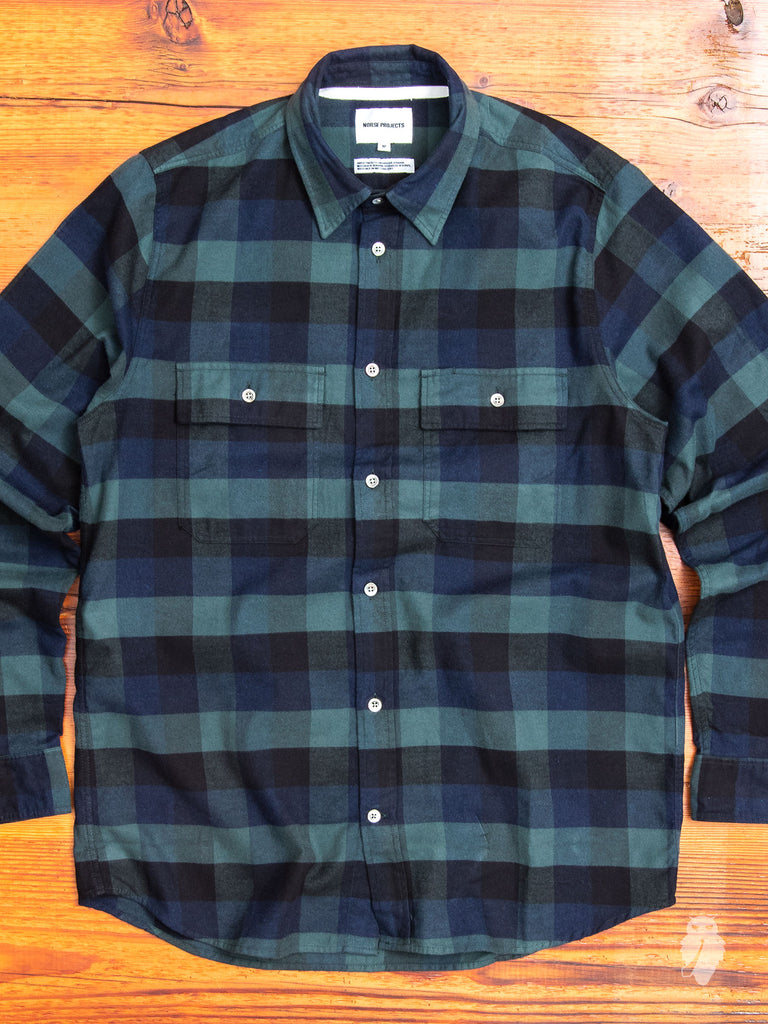 Villads Work Shirt in Dark Navy