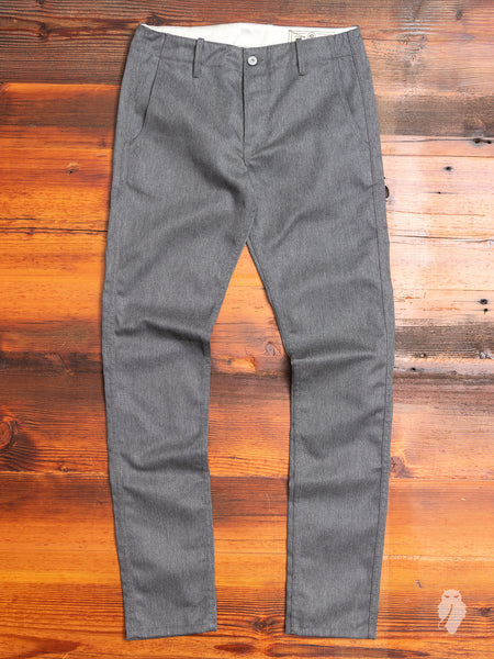 """Infantry Pant"" in 10oz Grey Denim"