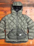 Diamond Stitch Down Jacket in Olive