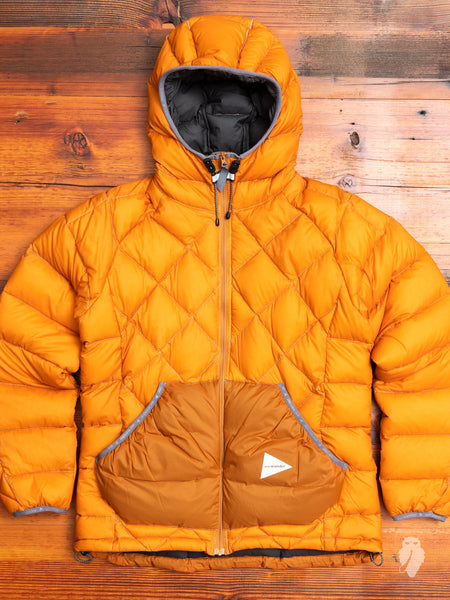 Diamond Stitch Down Jacket in Orange