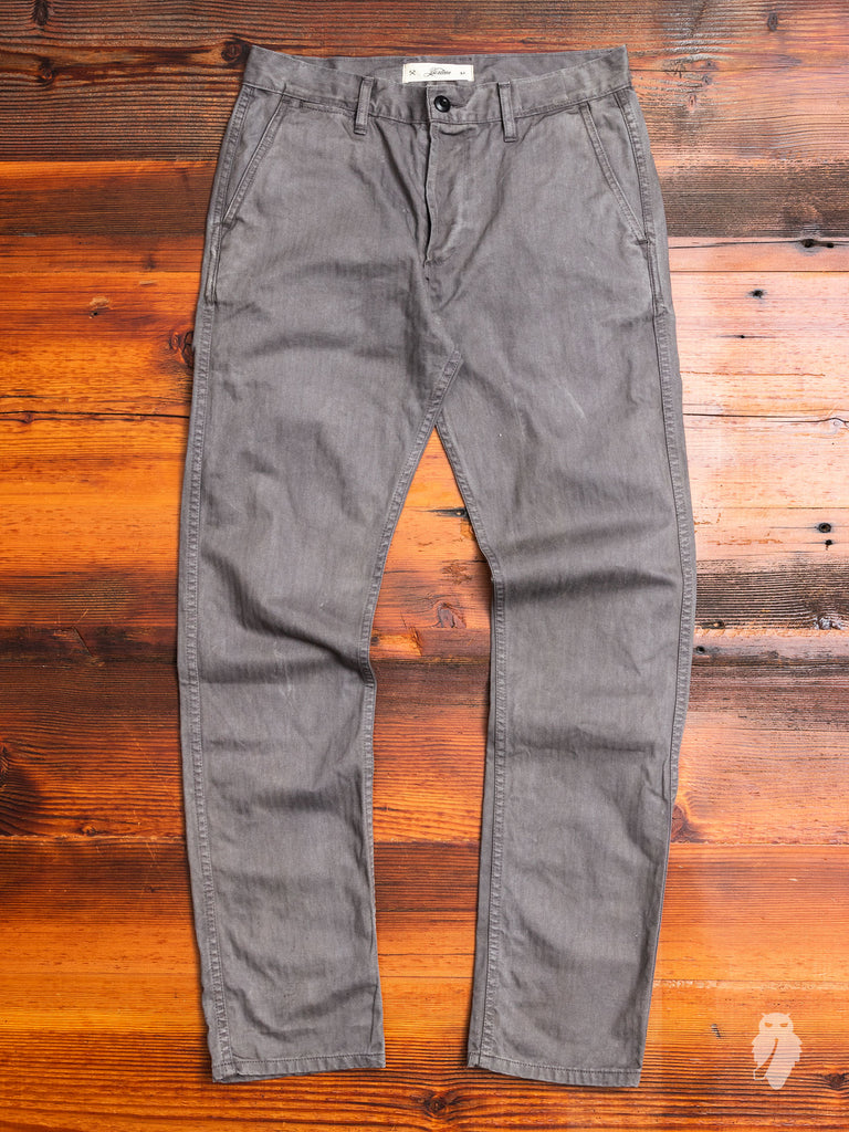 """Alpha Industries x 3sixteen"" Chino in Iron Overdye"