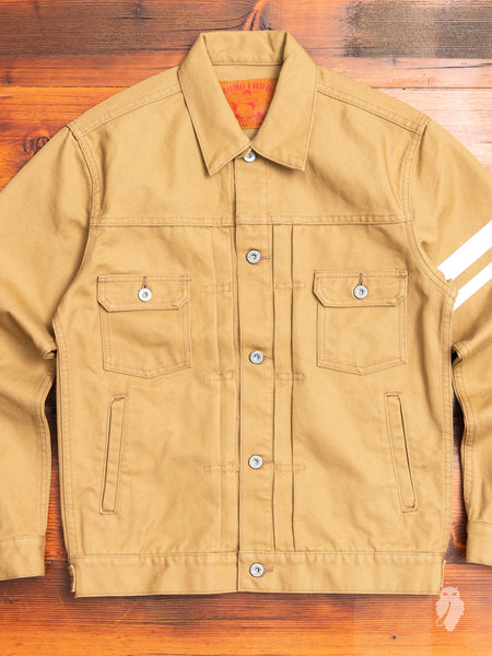 "03-125 ""Going to Battle"" Duck Canvas Jacket in Beige"