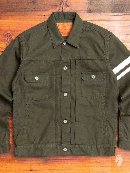 "03-125 ""Going to Battle"" Duck Canvas Jacket in Olive"