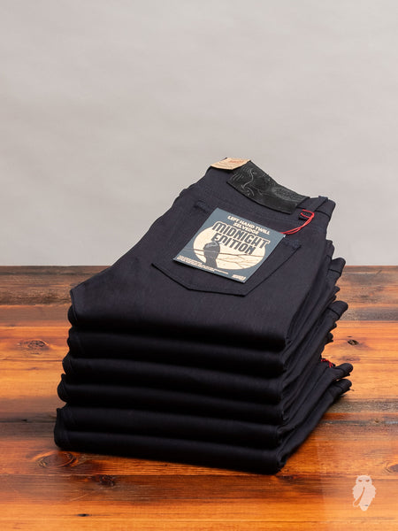 """Left Hand Twill Midnight Edition"" 13.75oz Selvedge Denim - Weird Guy Fit"