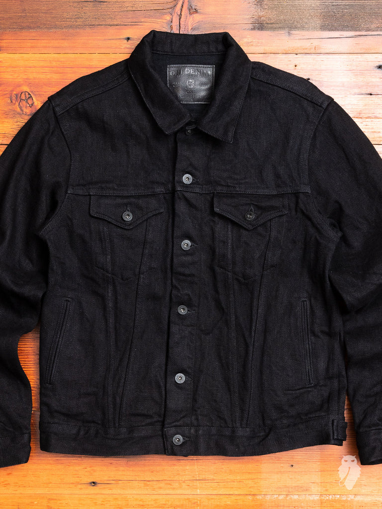 "02527PRZ-BK ""Secret Denim"" 20oz Black Selvedge Denim Jacket"
