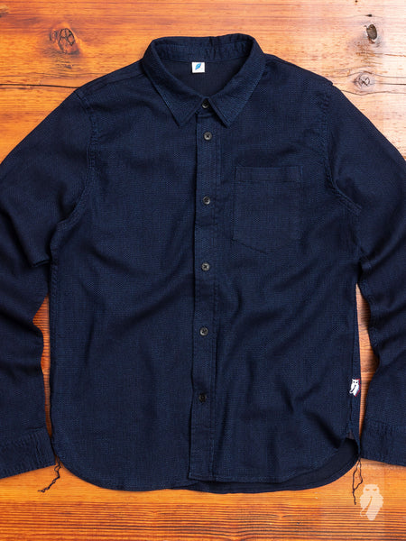 """10th Anniversary"" Sashiko Button-Up Shirt in Indigo"