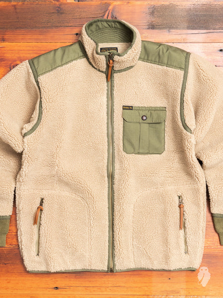 Ripstop-Paneled Fleece Jacket in Mountain Cream