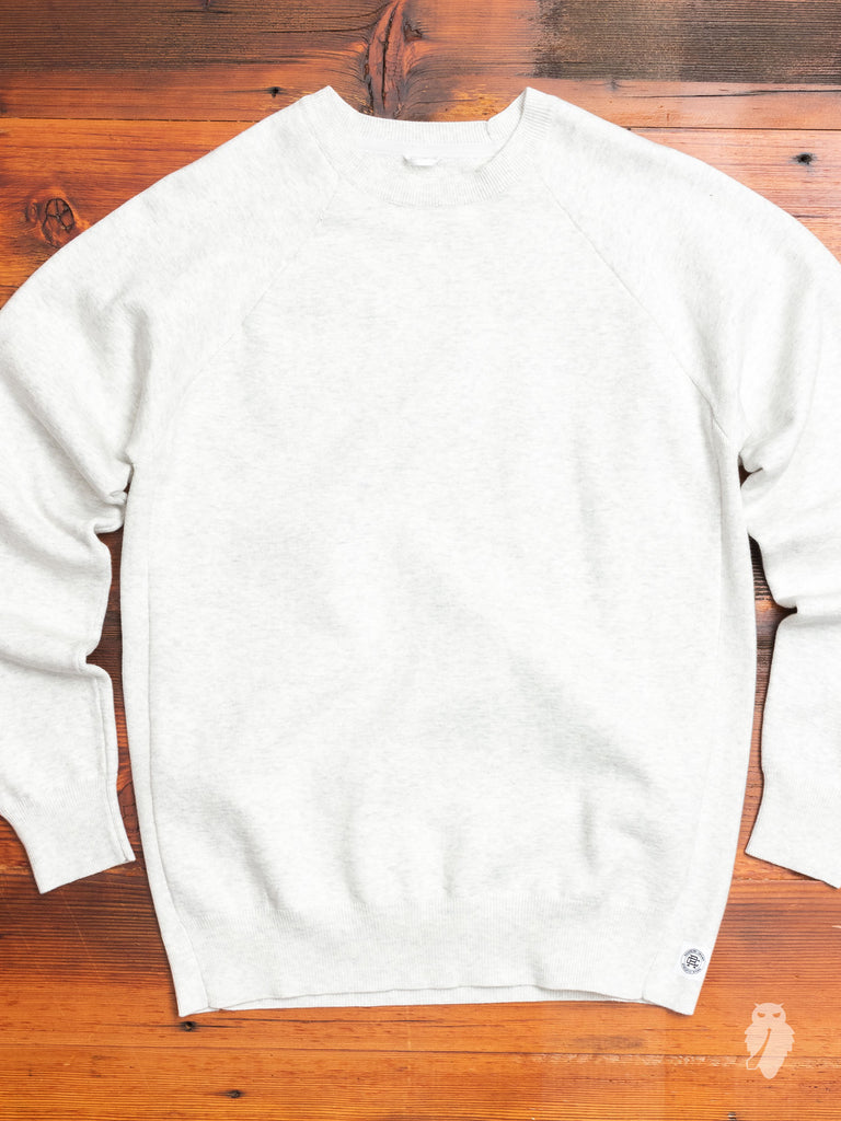 """Engineered Terry"" Crewneck Sweater in Heather Ash"