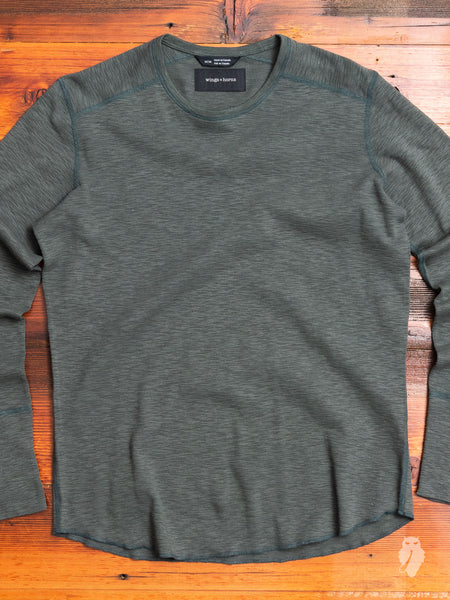 1x1 Long Sleeve T-Shirt in Pine