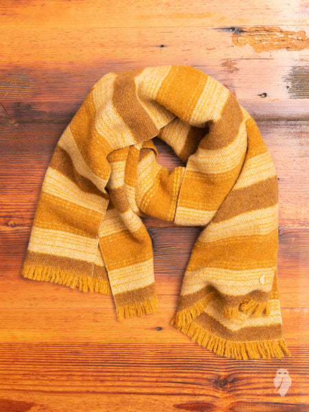 Wool Scarf in Brown Stripe