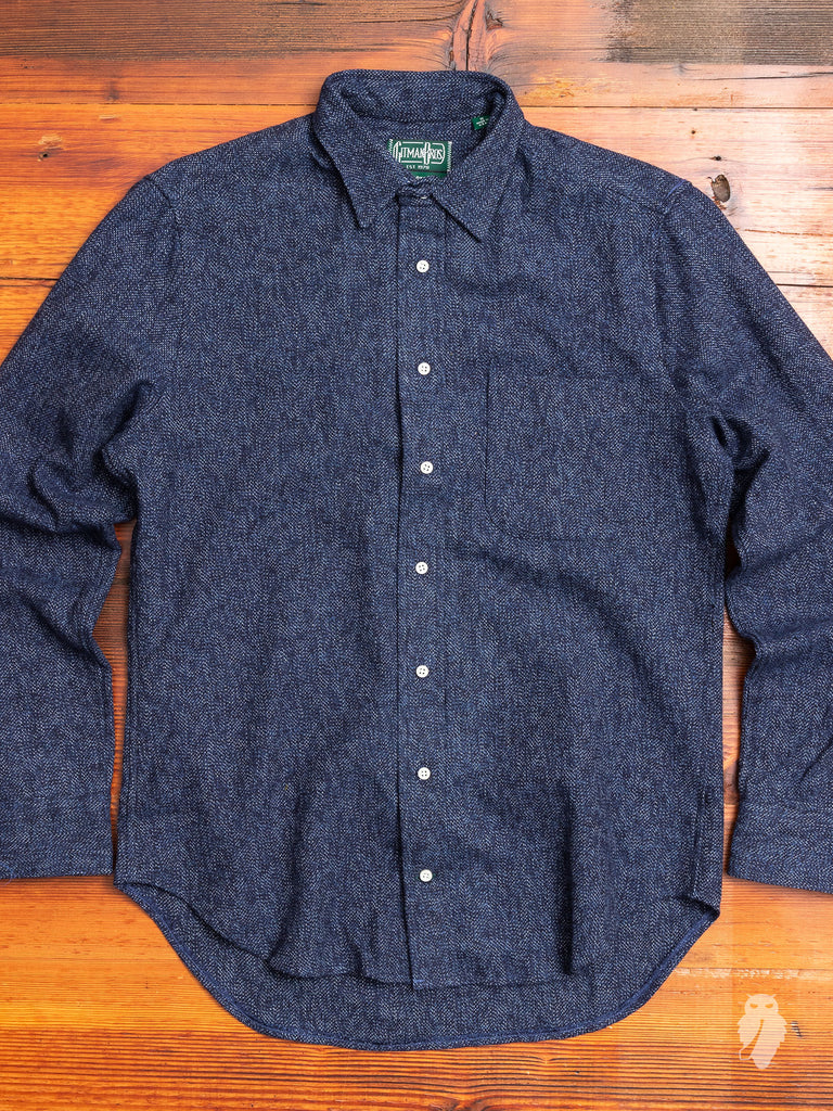 Cotton Tweed Flannel in Navy