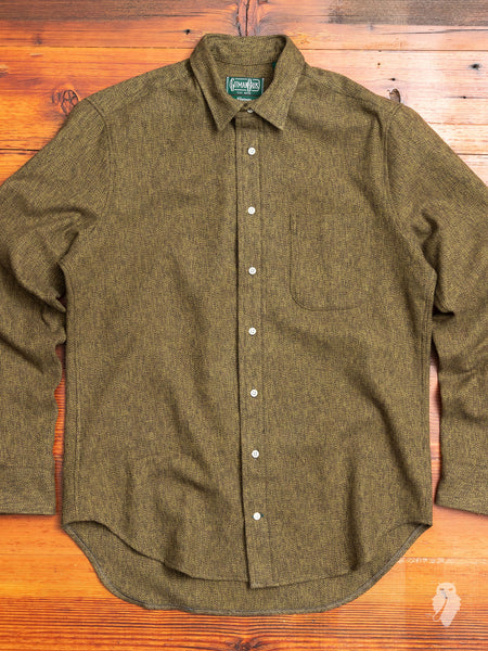 Cotton Tweed Flannel in Olive
