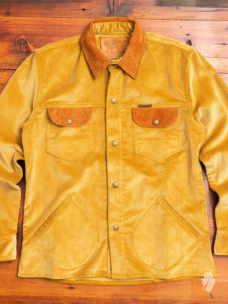 """Eagle Rising"" Corduroy Jacket in California Gold"